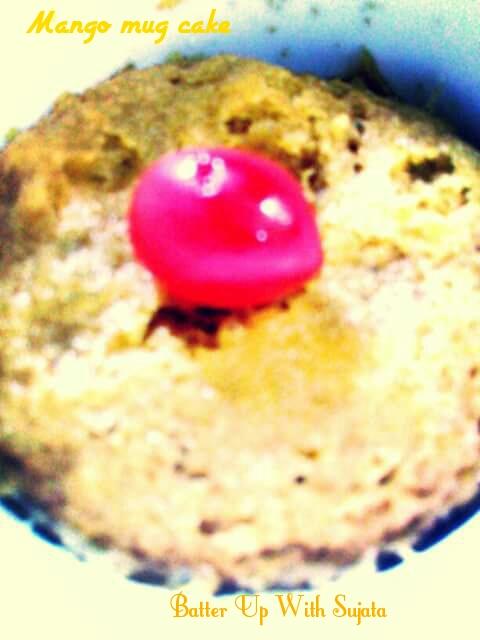 Microwave mango mug cakeBatter Up With Sujata