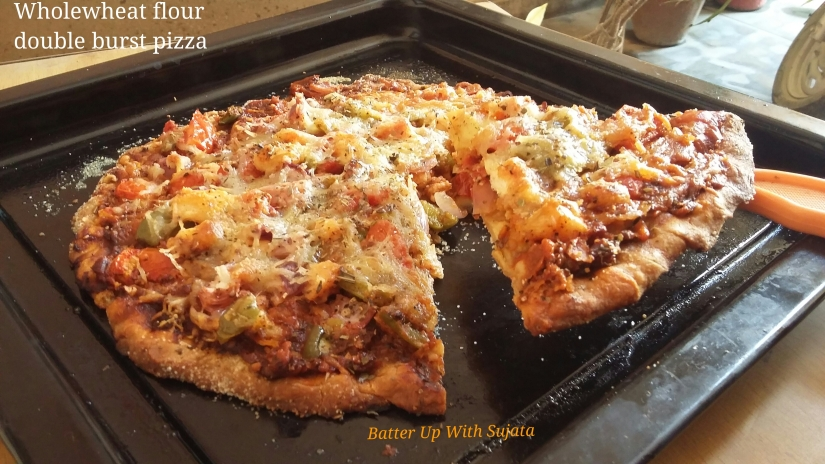 Thin Crust Wholewheat Flour Double Burst Pizza