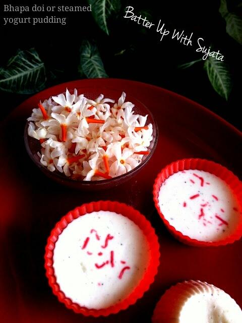 Bhapa Doi Or Steamed Yogurt Pudding With MilkPowder