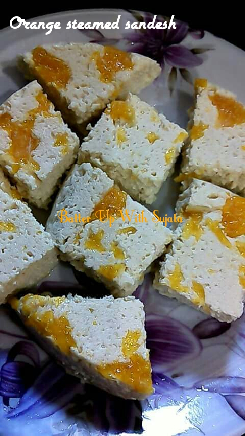 Bhapa/Steamed Sandesh