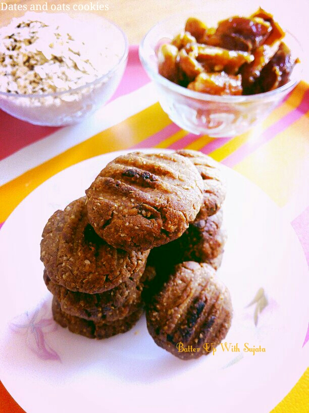 Sugarless Dates And Oats Cookies