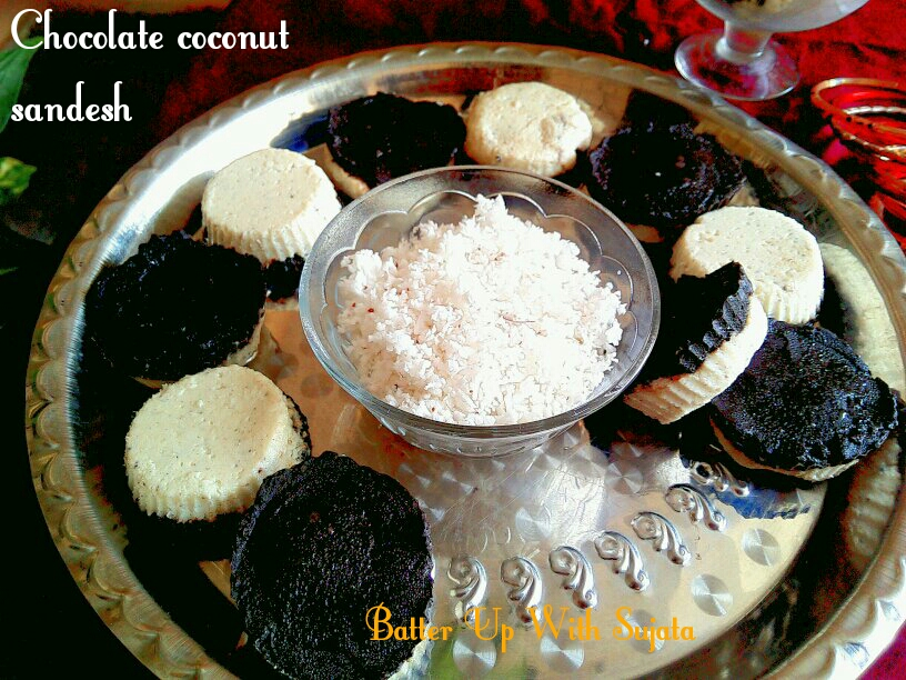 Chocolate Coconut Sandesh