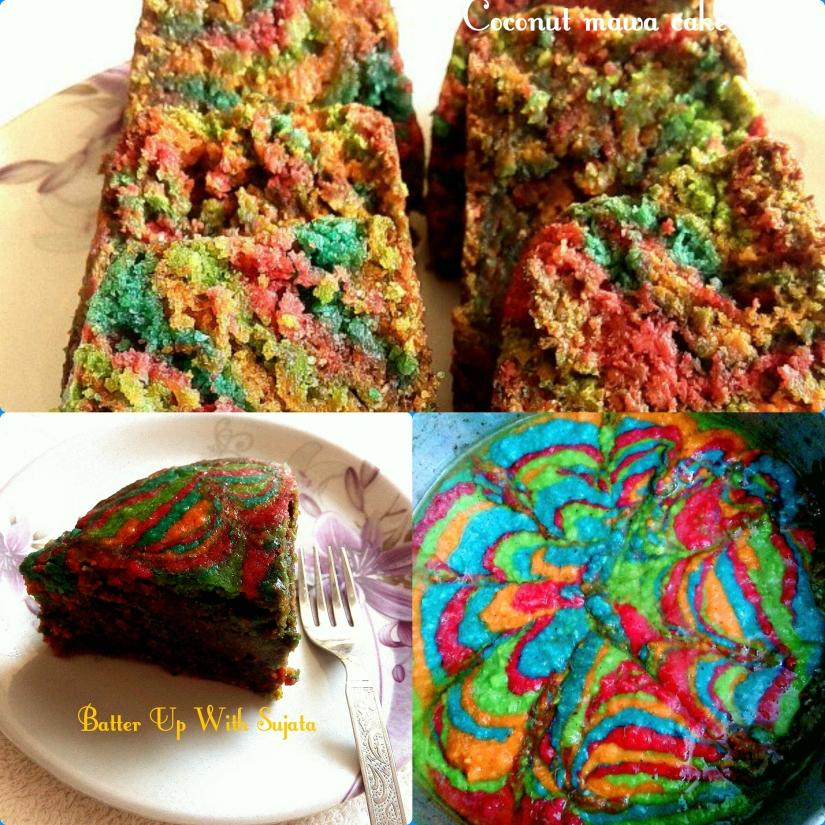 Eggless Coconut Mawa Cake