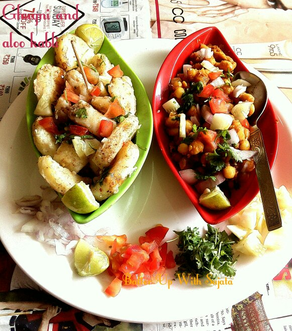 Ghugni And Aloo Kabli Or Chaat