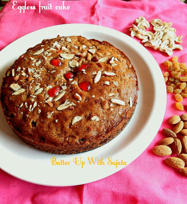 Eggless Fruit Cake Or Christmas Cake