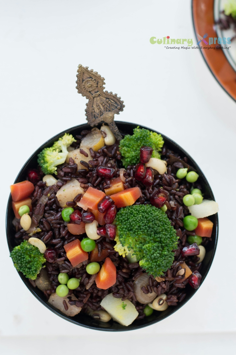Stir Fry Black Rice (By Alka Jena)