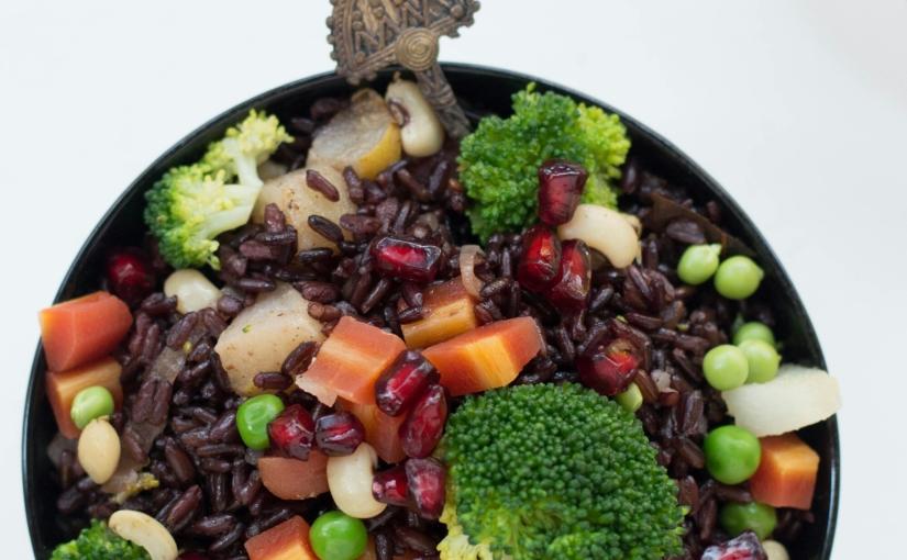 Stir Fry Black Rice (By Alka Jena)