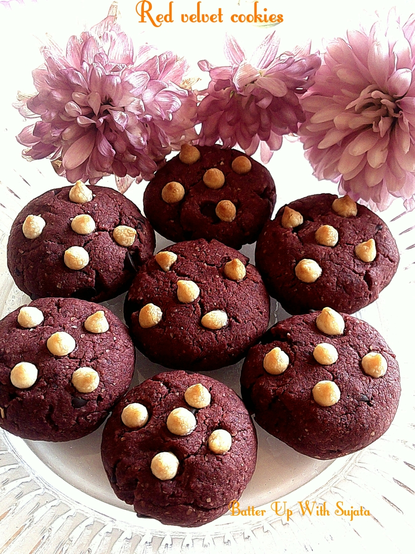 Red Velvet Choco Chips Cookies