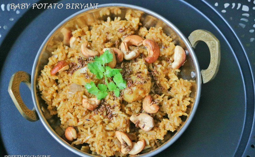 Baby Potato Biryani (Guest Post By Preethi Prasad)