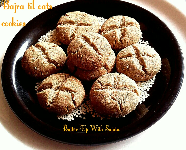 Gluten Free Pearl Millet Sesame Oats Cookies
