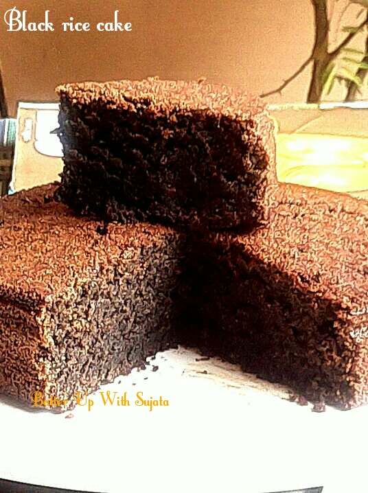 Gluten Free Double Chocolate Black Rice Cake