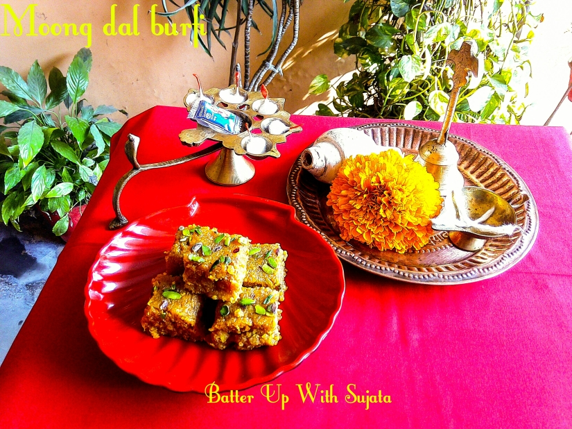 Moong Dal Burfi Or Yellow Lentil Fudge (Basant Panchami Special)