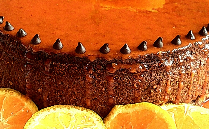 Chocolate Cake With Orange Crunch And Glaze