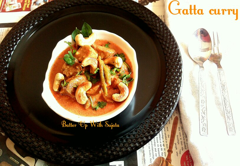 Rajasthani Gatta Curry Or Gatte In Shahi Gravy