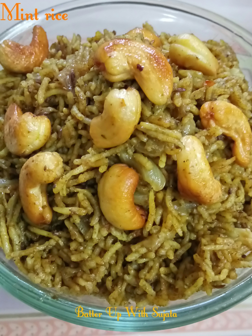Mint Rice Or Pulao