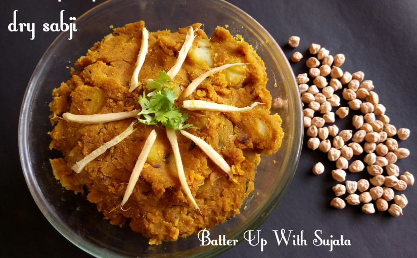 Chickpea Potato Dry Sabji Or Curry / Guest Post For Avin S Kohli