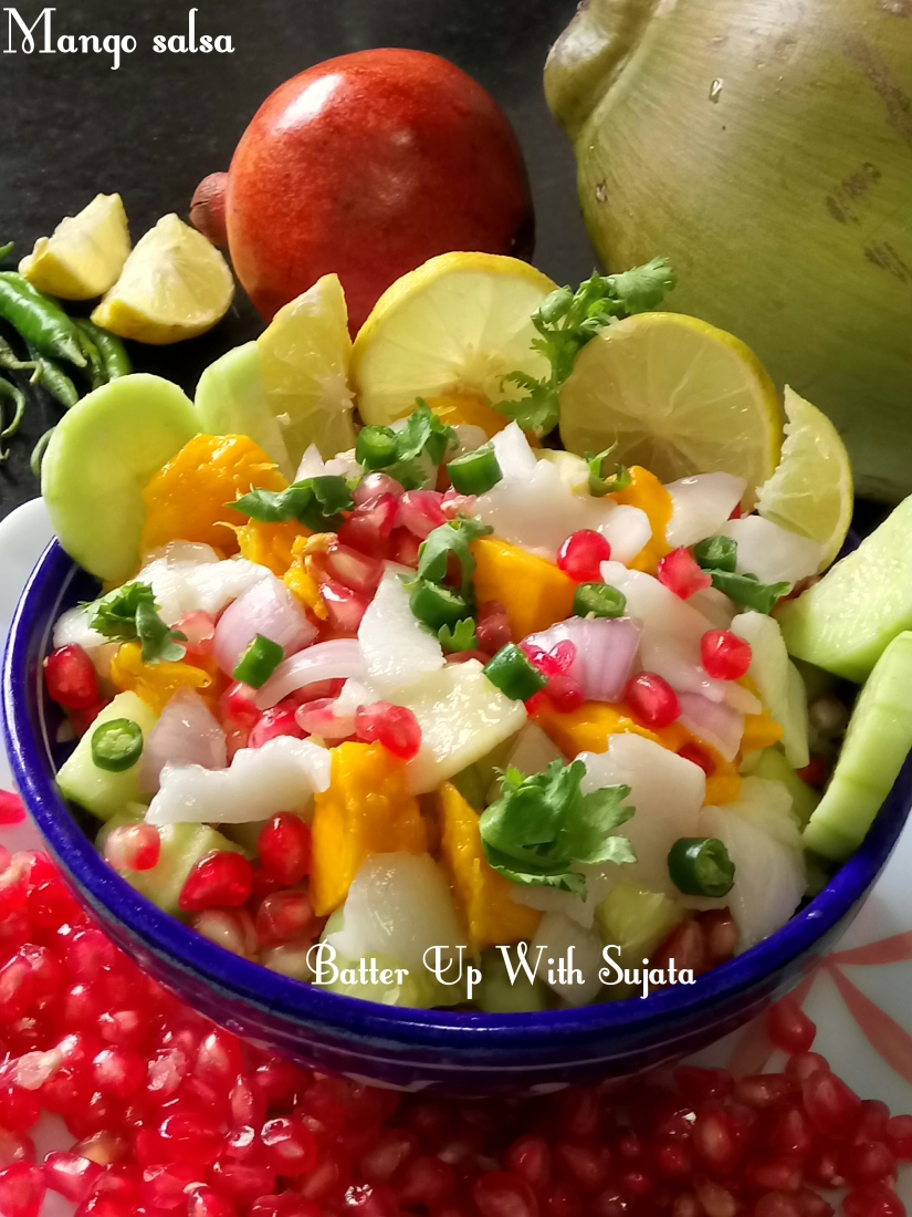 Mango Pomegranate And Tender Coconut Salsa