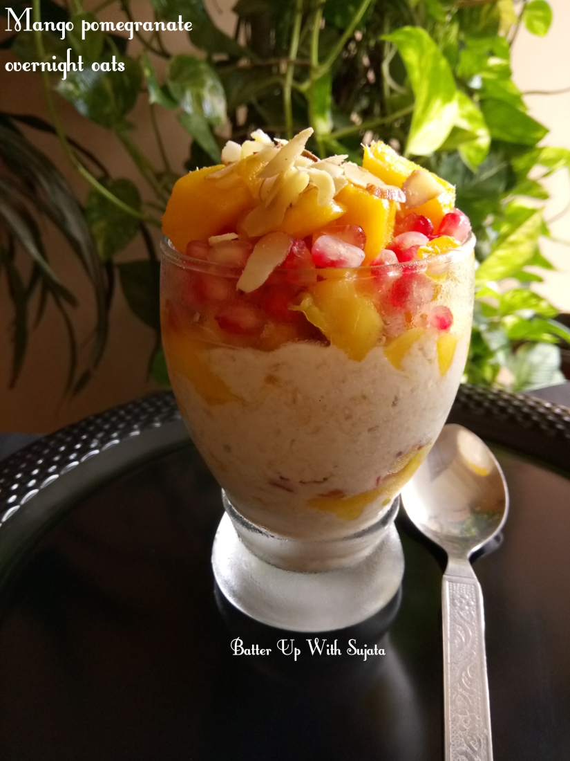 Mango Pomegranate Overnight Oats Parfait