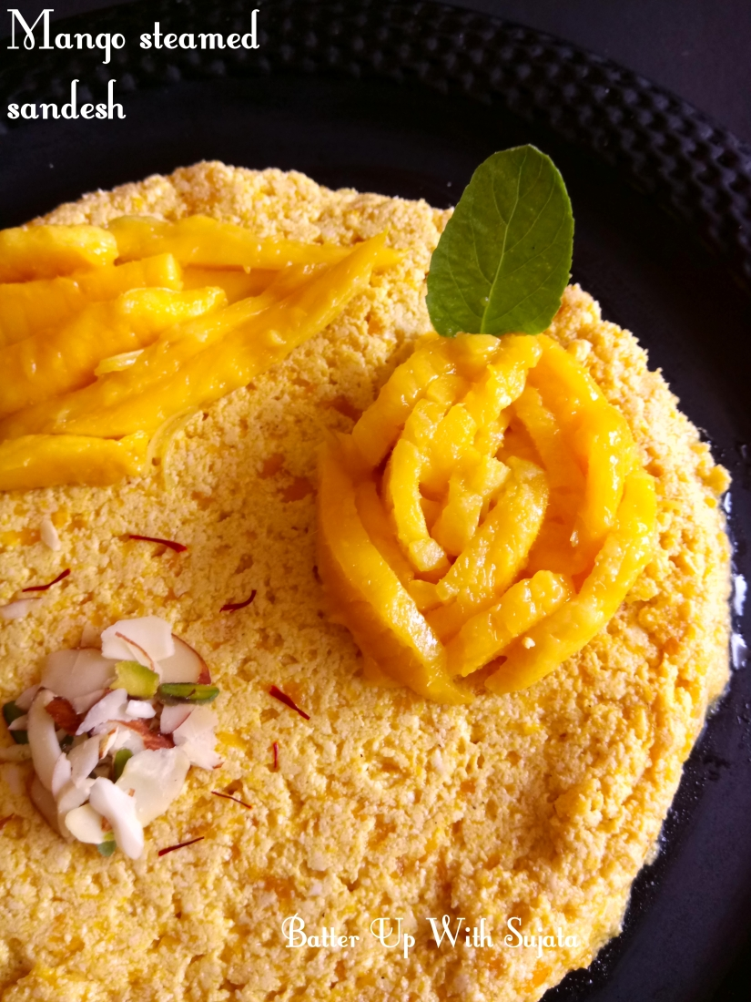 Mango Steamed Sandesh Or Aam Bhapa Sondesh