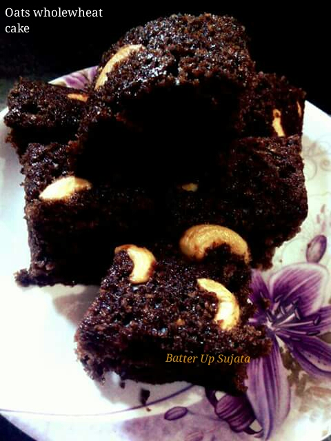 Oats Whole Wheat Chocolate Cake