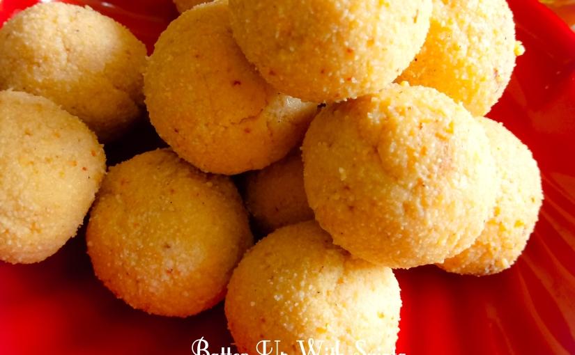 Gulkand Stuffed Khoya Paneer Laddu / Ganesh Chaturthi Special