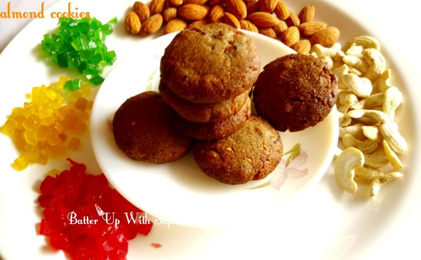 Eggless Pearl Millet Cashew Almond Honey Cookies / Gluten Free Cookies