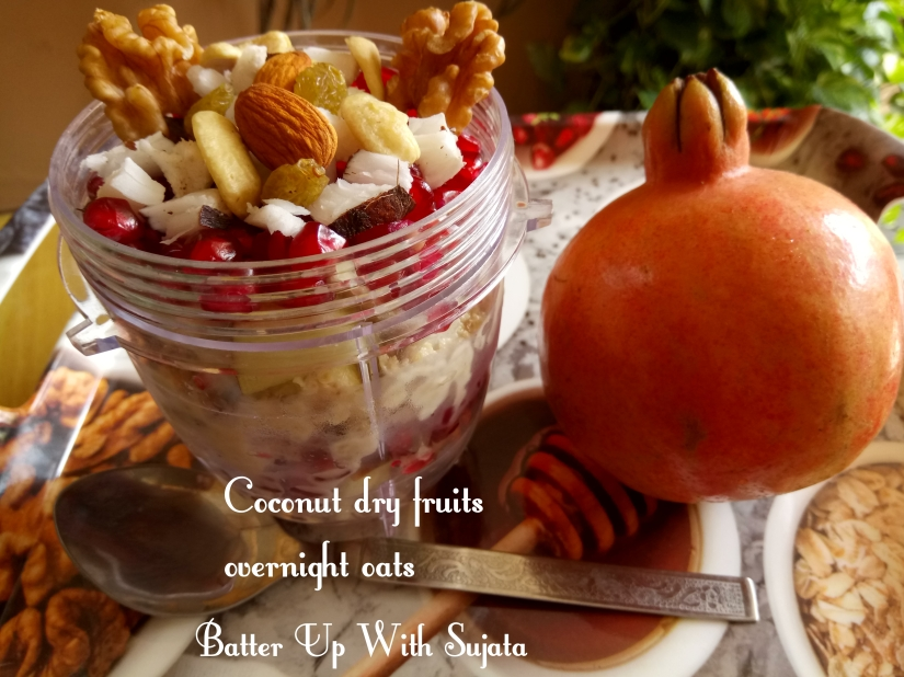 Dairy Free Coconut Dry Fruits Overnight Oats