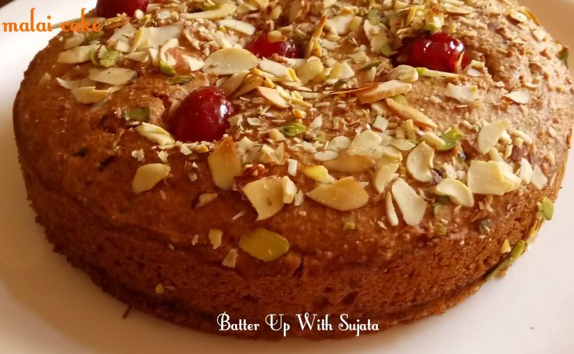 Eggless Oats Wholewheat Flour Mawa Paneer Malai Cake