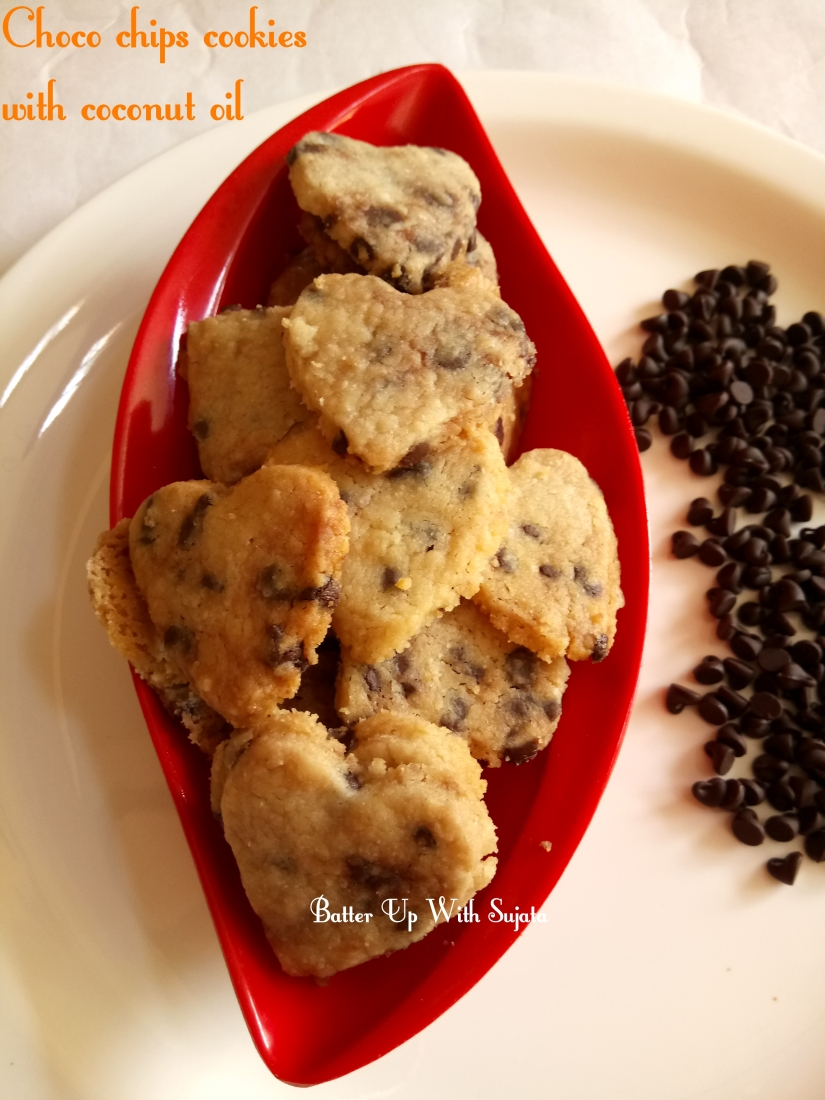 Choco Chips Cookies With Coconut Oil