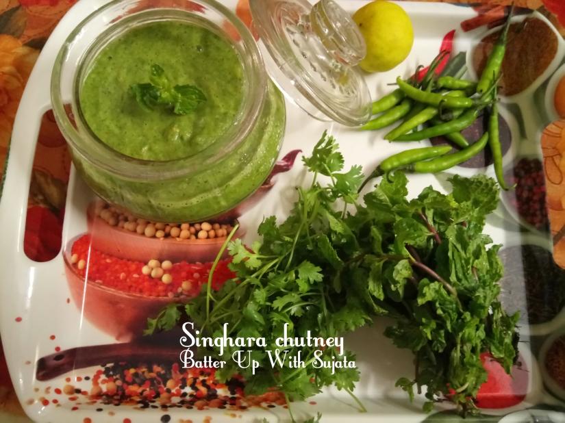 Water Chestnut Or Singhara Chutney Or Dip