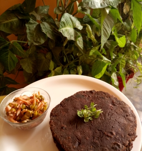 Manipuri Tan Or Flat Bread With Finger Millet Or Ragi Flour