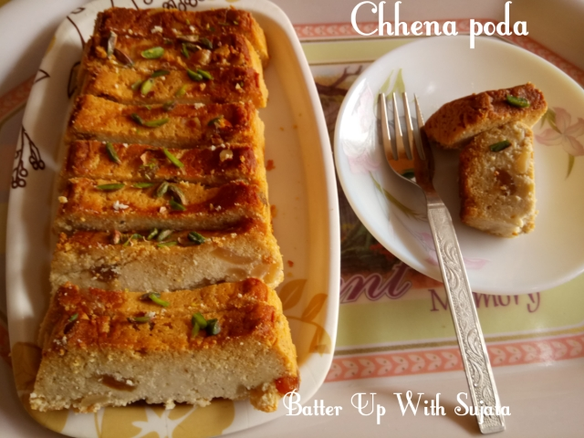 Chhena Poda Or Baked Cottage Cheese