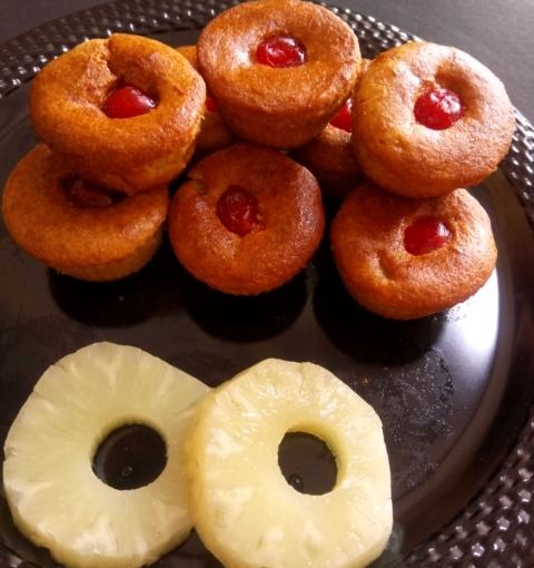Pineapple Cupcake / Gluten Free Cake / Protein Rich Cake / Soyabean FlourCake