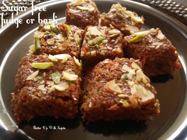 Sugar Free Carrot Bottle Gourd Fudge Or Barfi