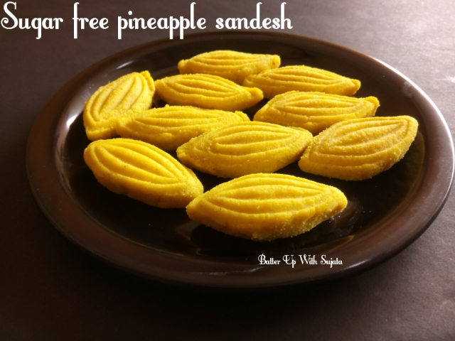 Sugar Free Pineapple Sandesh / Diabetic Friendly Sweet / Naturally Sweetened