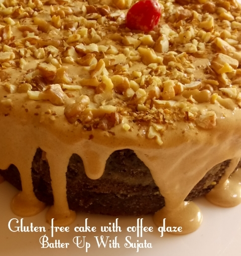 Gluten Free Mocha Coffee Cake With Coffee Glaze / Soyabean Flour Cake