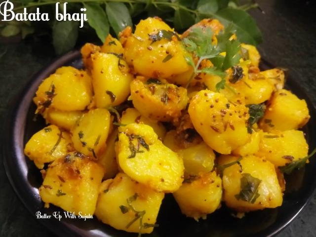 Batata Bhaji Or Maharashtrian DryPotato