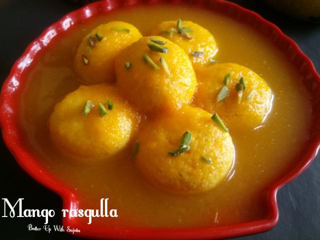 Mango Rasgulla Or AamRosogolla