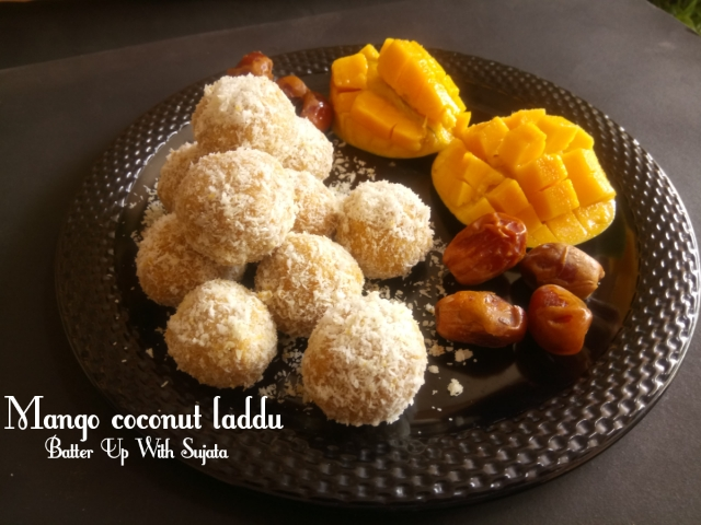 Sugar Free Mango Coconut Laddu