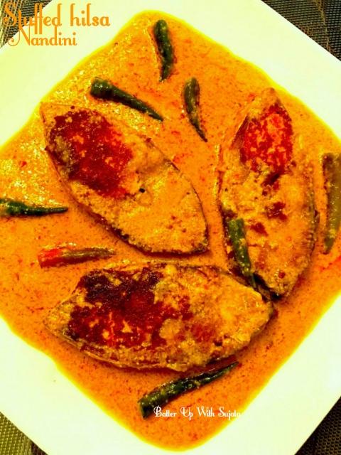 Chhanamukhi Ilish Or Cottage Cheese Stuffed Hilsa ( Guest Post By NandiniGhosh)