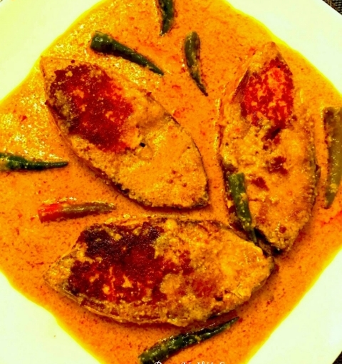 Chhanamukhi Ilish Or Cottage Cheese Stuffed Hilsa ( Guest Post By Nandini Ghosh)