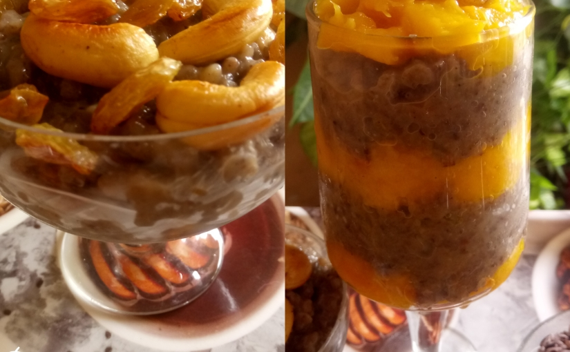 Black Rice Pudding And Mango Parfait