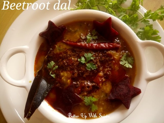Beetroot Dal Or Lentil Curry