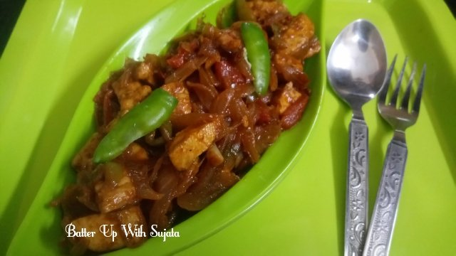 Cottage Cheese Or Paneer Capsicum Stir Fry
