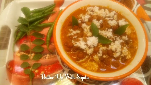 Kadala Curry Or Black Chickpea Curry