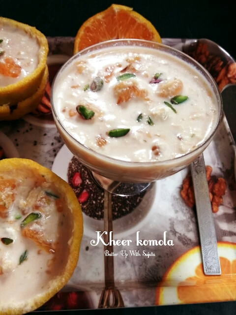 Kheer Komola Or Orange Kheer /Pudding