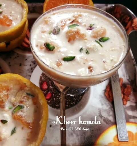 Kheer Komola Or Orange Kheer / Pudding