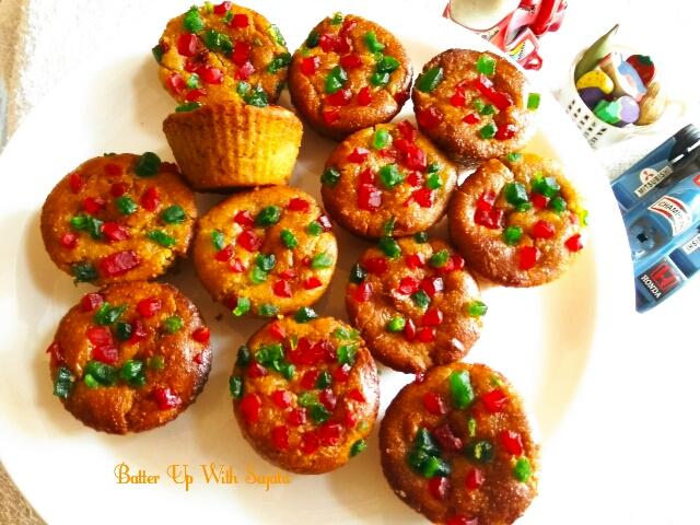 Eggless Gluten Free Apple Almond Cupcakes / Soyabean FlourCake