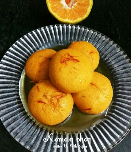 Komola Bhog Or Orange Flavoured Rasgulla