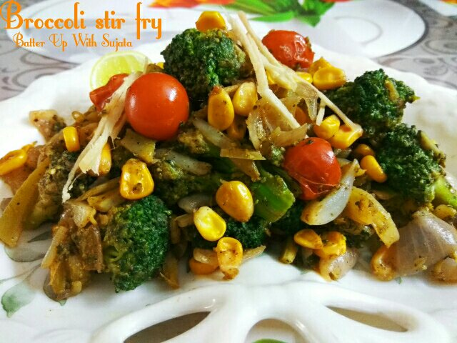Vegan Broccoli Stir Fry With Lemon And Ginger Julienne